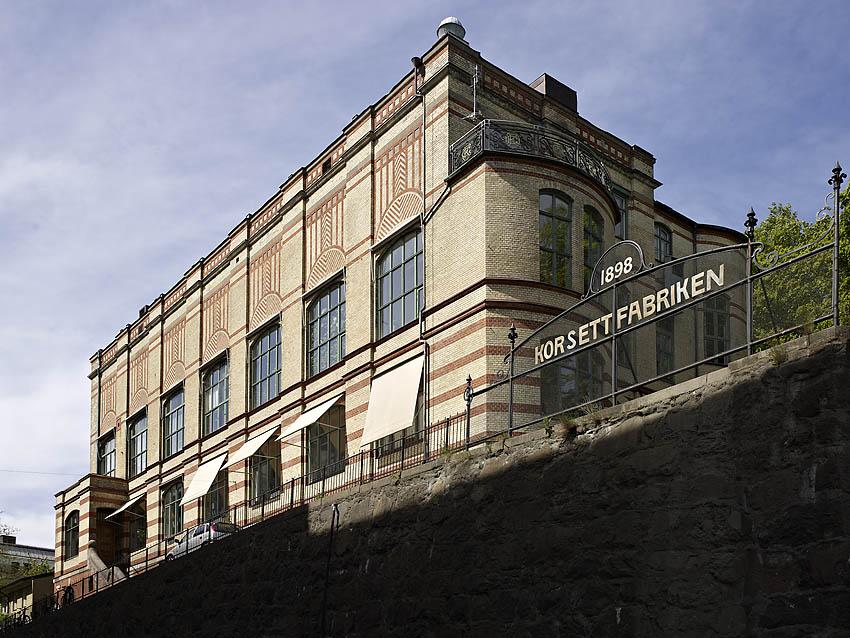 Korsettfabriken, arkitekt Gustaf Wickman 1899. Foto Krister Engström 2013