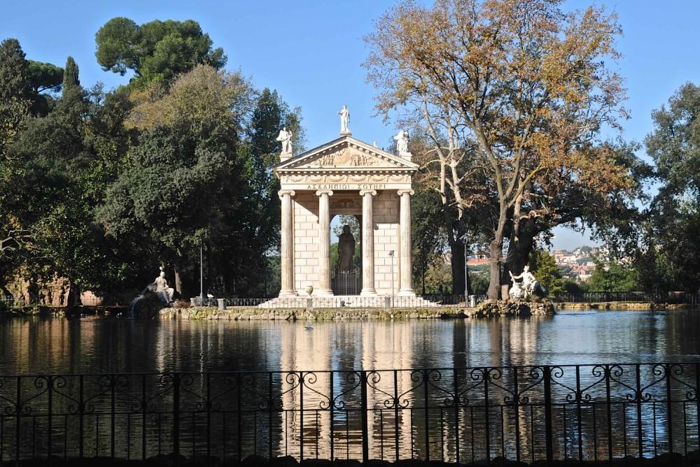 Asklepiostemplet från ca 1785 i Villa Borghese, foto Bjur arkitekter