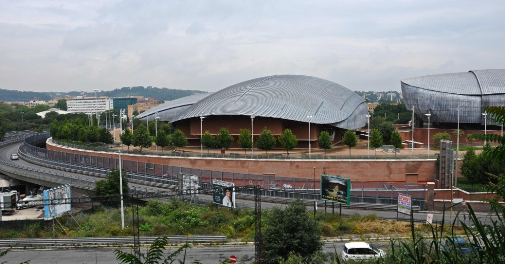 Auditoriums tre musikhallar med tuff omgivning, arkitekt Renzo Piano, foto Bjur arkitekter 2008