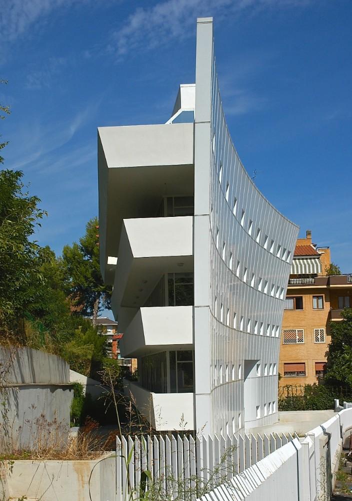 Bostadshuset Palazzetto Bianco, arkitekt Paola Rossi 2005, foto Bjur arkitekter 2007