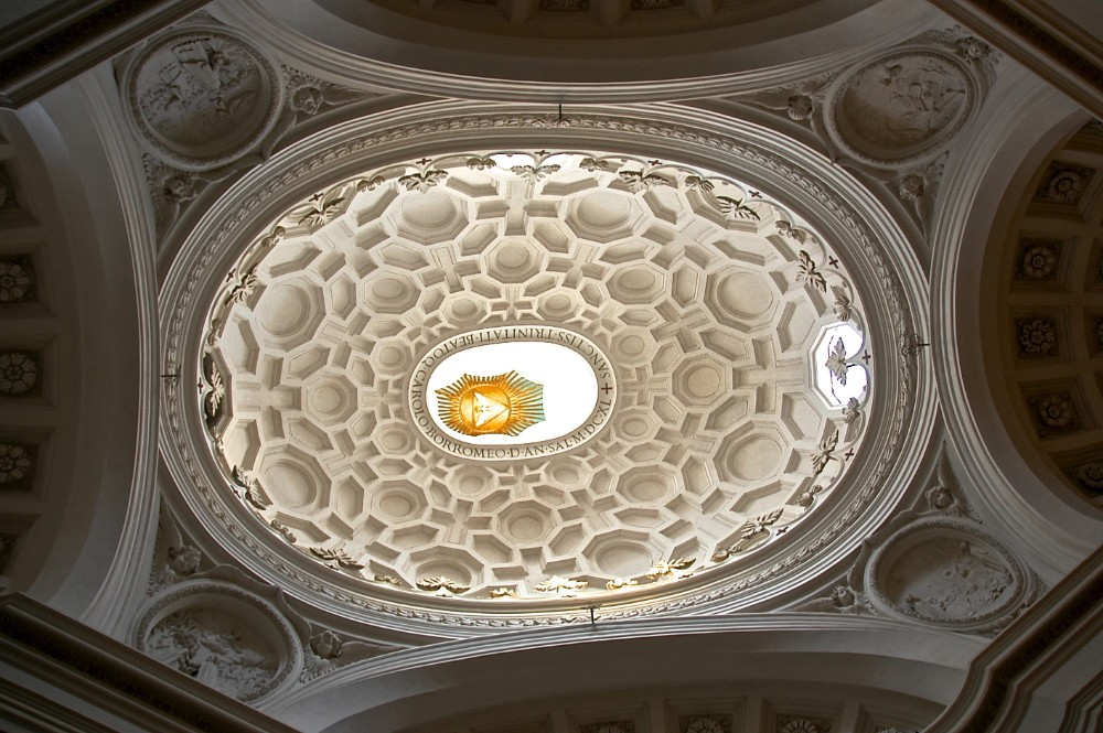 Interiör av kupolen San Carlo alle quattro fontane 1667, arkitekt Francesco Borromini, foto Bjur arkitekter