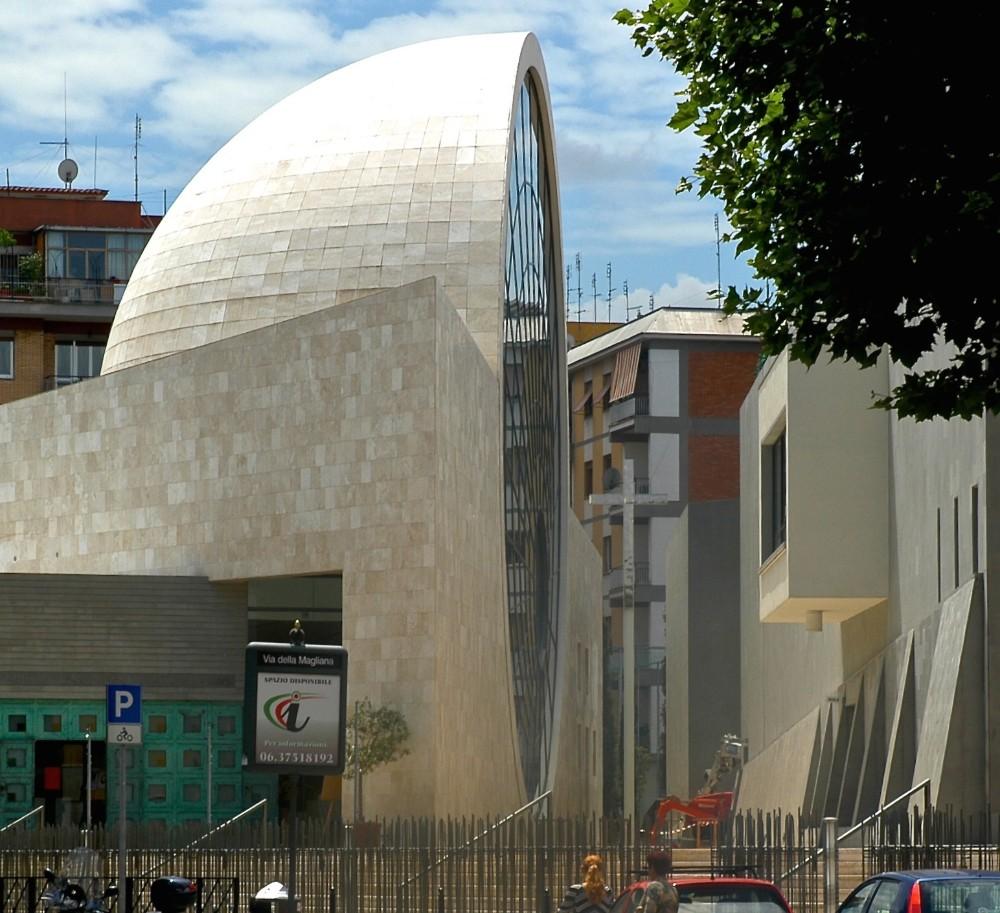 Kyrkan Santo Volto di Gesù 2006, arkitekter Piero Sartogo & Nathalie Grenon, foto Bjur arkitekter 2007