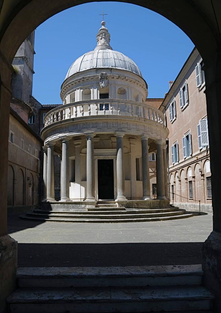 Tempietto av arkitekt Bramante ca 1505, foto Bjur arkitekter