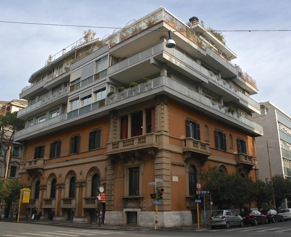 Villino Alatri med påbyggnad 1949 av arkitekt Mario Ridolfi, foto Bjur arkitekter 2007