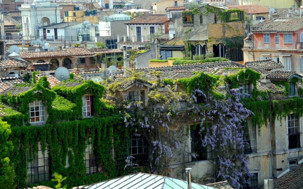 Vy från Pincio mot Konstakademin vid Via Margutta, foto Bjur arkitekter 2012